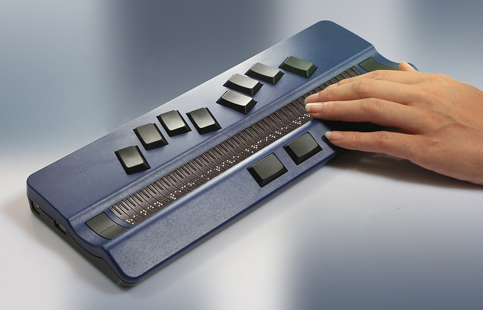 Photo of the One Gently Used HandyTech ActiveBraille 40 Cell Display for $2,595.00 - Flying Blind, LLC Online Store