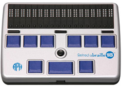 Photo of the RefreshaBraille 18 Cell Refreshable Braille Display for $1,295.00 USD - Flying Blind, LLC Online Store