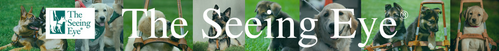 The Seeing Eye website banner.
