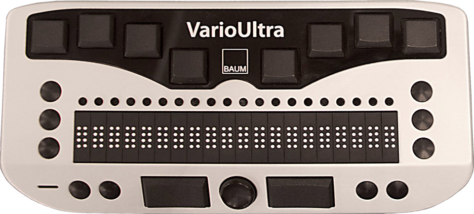 Photo of the One Responsibly Used Vario Ultra 20 Cell Braille Display for $1,795.00.00 USD - Flying Blind, LLC Online Store