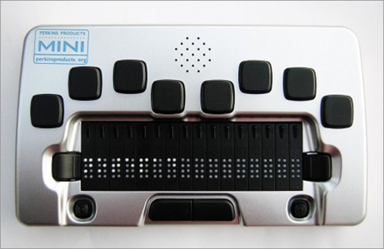 Photo of the Perkins Mini 16 Cell Braille Display for $995.00 USD - Flying Blind, LLC Online Store