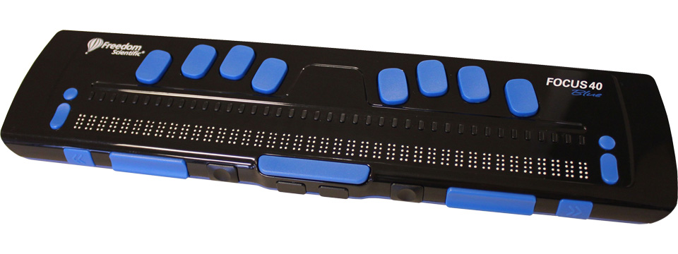 Photo of the Focus 40 Blue 1st Generation 40-Cell Braille Display for $1,195.00 USD Each - Flying Blind, LLC Online Store