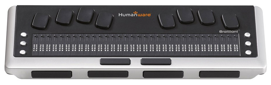 Photo of the Brailliant BI 32 Cell New Generation Refreshable Braille Display with Executive Products Carrying Case for $1,595.00 USD - Flying Blind, LLC Online Store