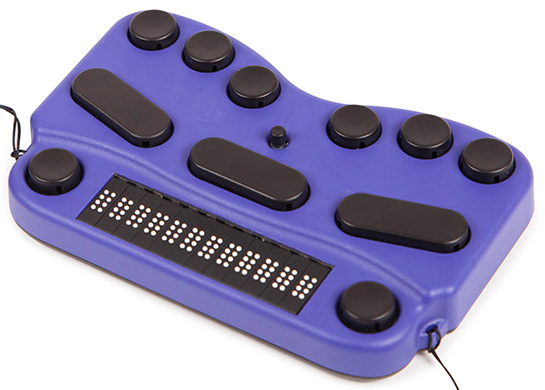 Photo of the One Unused EasyLink 12 Touch Braille Keyboard with 12-Cell Braille Display for $395.00 USD - Flying Blind, LLC Online Store