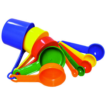 Photo of the Color Cue Measuring Cup and Spoon Set for $11.95 USD - Flying Blind, LLC Online Store