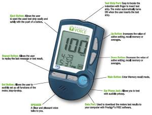 Photo of the Prodigy Voice Talking Glucose Meter for $84.95 USD - Flying Blind, LLC Online Store