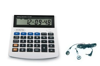 Photo of the 10 Digit Talking Calculator With Earbud for $23.95 USD - Flying Blind, LLC Online Store