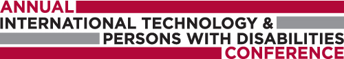 29th Annual International Technology and Persons with Disabilities Conference Logo