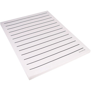 low vision white paper black bold lines 5 95 per 100 sheet pad