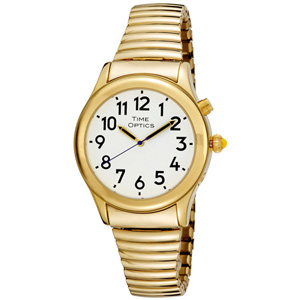 Photo of the Talking Watch With Gold or Silver Stretch Band or Leather Buckle Band - $65.00 USD - Flying Blind, LLC Online Store
