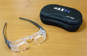 Photo of the MAX TV Glasses - $160.00 USD - Flying Blind, LLC Online Store