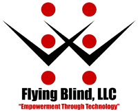 Flying Blind, LLC Logo. Empowerment Through Technology.