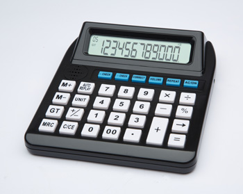 Photo of the Big Button Talking Calculator With Function Replay - $25.95 USD Each - Flying Blind, LLC Online Store