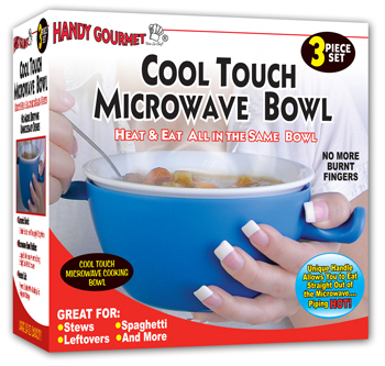 Photo of the Cool Touch Microwave Bowl - $18.95 USD Each - Flying Blind, LLC Online Store