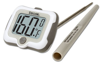Photo of the Digital Meat Thermometer With One Inch Display - $29.95 USD Each - Flying Blind, LLC Online Store
