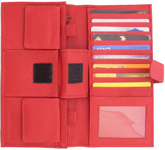 Photo of the Money Organizer Wallet - Red - $32.95 USD Each - Flying Blind, LLC Online Store