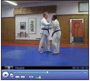 Video thumbnail showing Larry Lewis working double leg takedowns with Instructor Darren of Team Royler Gracie / David Adiv