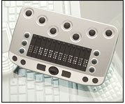 Photo of the BrailleConnect (VarioConnect) 12 Compact Refreshable Braille Terminal