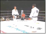 Photo of a Video Clip of brothers Rickson and Royler Gracie demonstrating the effectiveness of Gracie Jiu-Jitsu in various self defense situations.