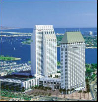 Photo of of the beautiful Manchester Grand Hyatt Hotel in San Diego