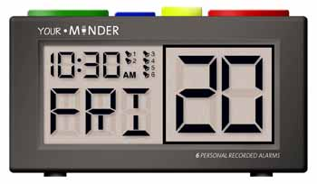 Photo of the Recordable Talking Alarm Clock - Pill Reminder - $50.95 USD Each - Flying Blind, LLC Online Store