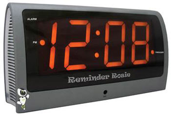 Photo of the Reminder Rosie Voice Controlled Clock - $105.95 USD Each - Flying Blind, LLC Online Store