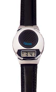 Photo of the Silver Beauty Talking Watch - $19.95 USD Each - Flying Blind, LLC Online Store