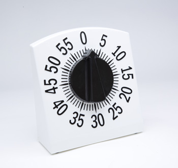 Photo of the Tactile Low Vision Timer White with Black Numbers - $25.95 USD Each - Flying Blind, LLC Online Store