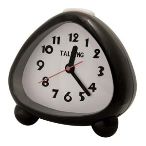 Photo of the Talking Alarm Clock Modern Tear Drop - $25.95 USD Each - Flying Blind, LLC Online Store